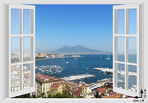 Stikers finestra sul golfo di Napoli