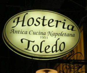 Insegna dell'Hosteria Toledo ai Quartieri Spagnoli
