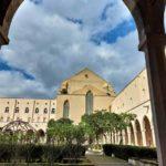 Chiostro di Santa Chiara vista dal corridoio