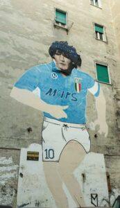 Murales di Maradona ai quartieri spagnoli