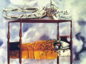 Frida Kahlo a Napoli il letto